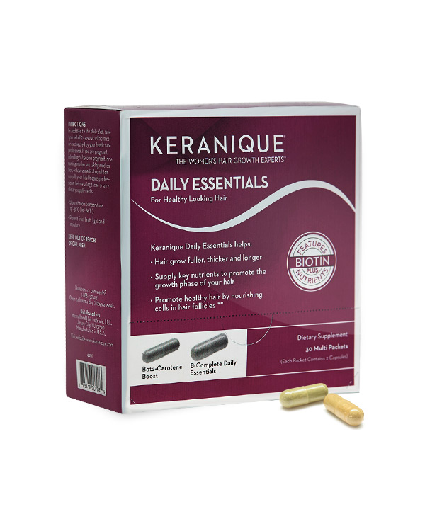 Keranique Daily Essentials to Support Strong, Healthy Looking, Full, Beautiful Hair!**